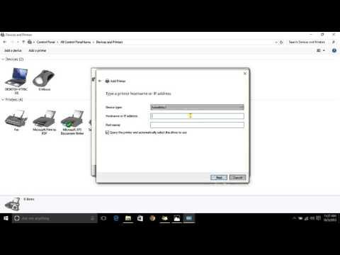 Windows 10 How to setup a network printer