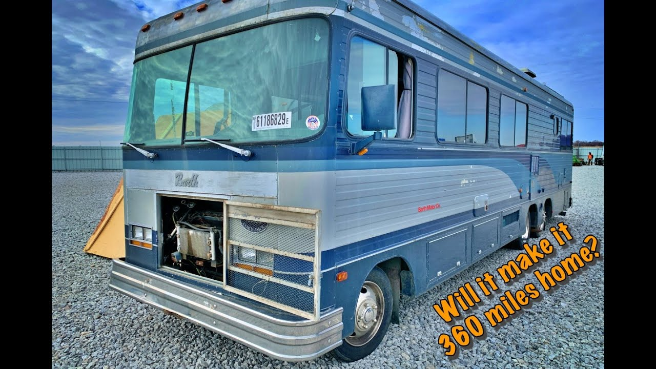 Abandoned $154,000 Luxury Motor Home (will it run and drive?)
