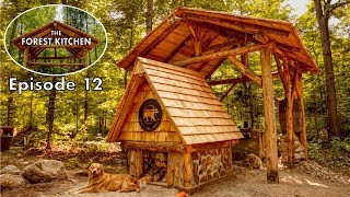 DIY Cedar Shingle Roof   Off Grid Log Cabin   The Forest Kitchen