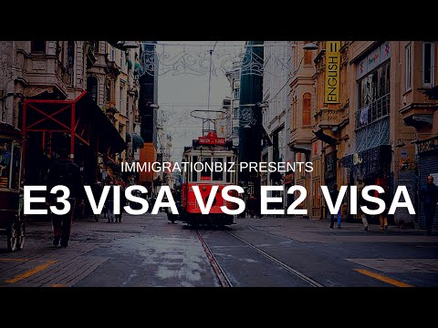 Visa to the USA | E3 visa vs E2 Investor Visa