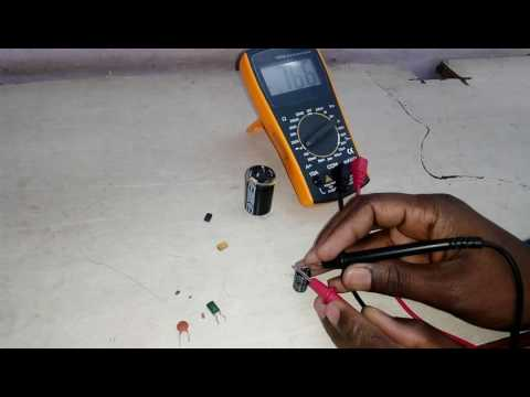 how to check capacitor  in hindi