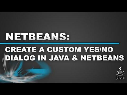 Netbeans Custom Feature - Custom (Yes/No) Option JComponent