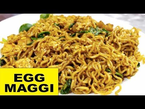 How to prepare Egg Maggi Noodles   Egg Ramen   Bachelors Cuisine