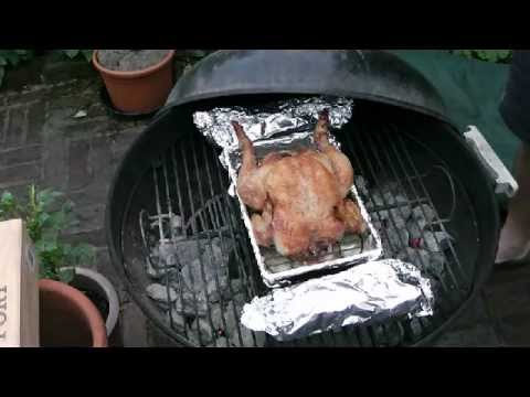 How to BBQ a whole roast chicken