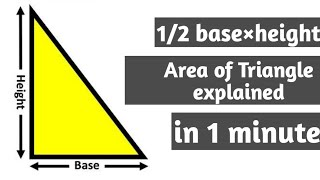1/2 base*height explained/proved.