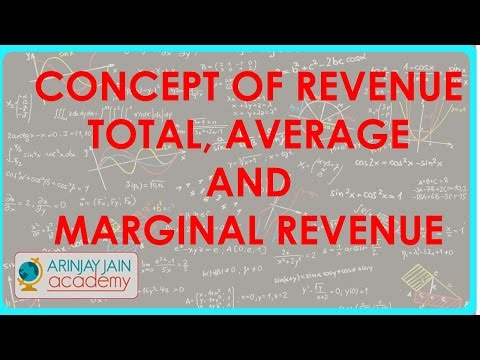 936. Class XII - Economics - Concept of Revenue - Total, Average and Marginal Revenue