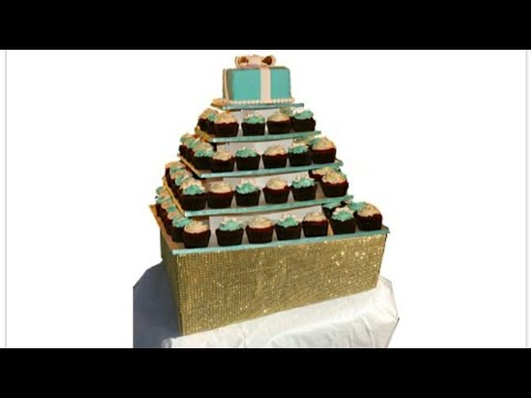 DIY GOLD HEAVY DUTY GLAM/BLING WEDDING CAKE STAND TUTORIAL