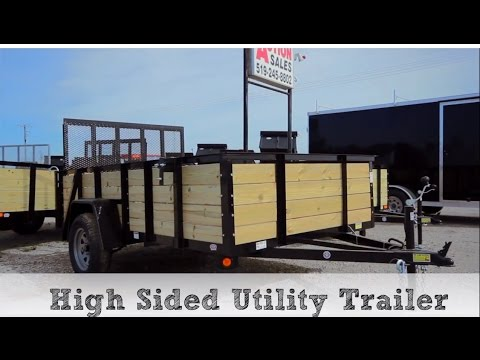 High Sided Utility Trailer Tutorial by ACTION TRAILER SALES