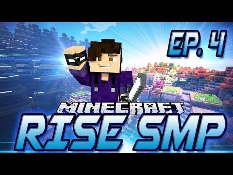 MineCraft RISE SMP! Episode 4 - Horseshoe Base FOUNDATION!