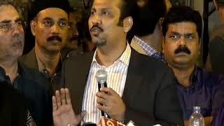 Faisal Sabzwari Member of Muttahida Qaumi Movement-Pakistan (MQM-P) Rabita Committee media talk