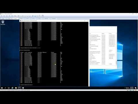 Close port and delete service in Windows Server 2016