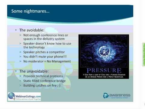 Webinar About Webinars: 6 P's of Hosting a Successful Webinar