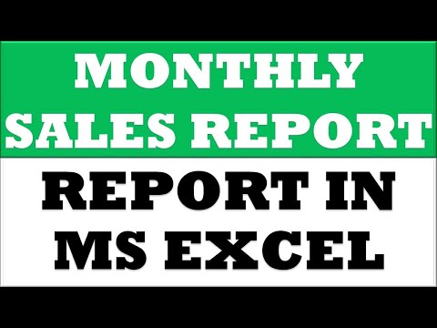 How to Prepare Basic Monthly Average Sales MIS Report using Pivot Table in Excel 2013