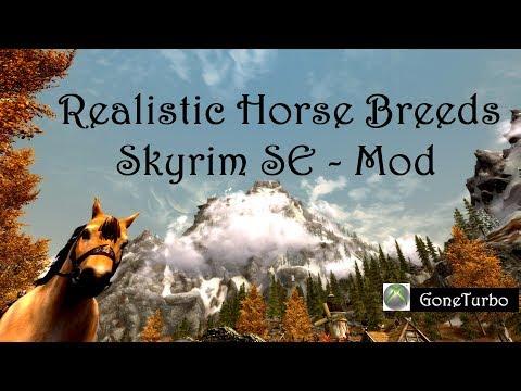 Skyrim SE- Realistic Horse Breeds