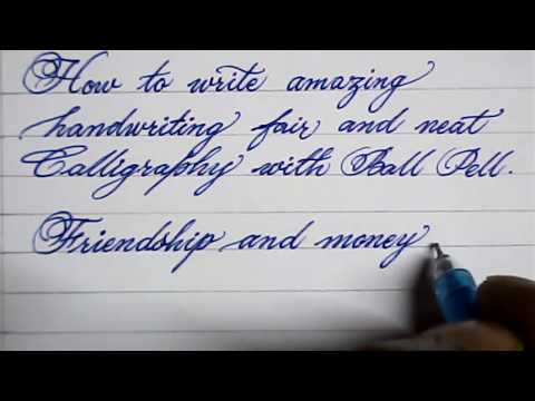 Cursive hand writing | How to write neat cursive handwriting | Mazic Writer