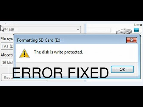 How To Remove The disk is write protected