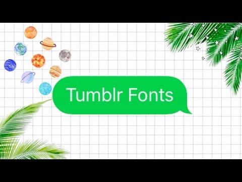 Tumblr Fonts!~Editing Perfect