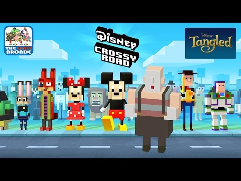 Disney Crossy Road - Duplicate Character And Ulf From Tangled (iOS/iPad Gameplay)
