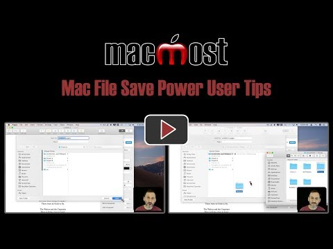 Mac File Save Power User Tips (MacMost #1832)