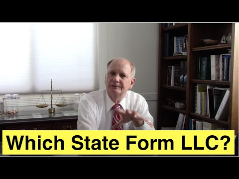 Which State to Form an LLC