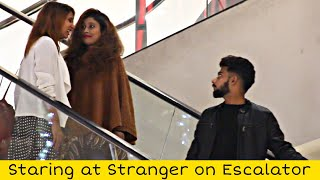 Staring at Strangers on the Escalator | Prank in Pakistan