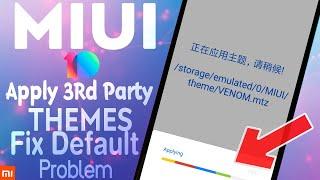 MIUI 9 5 - THIRD PARTY THEMES INSTALL - FIXED 402 ERROR - NO MI
