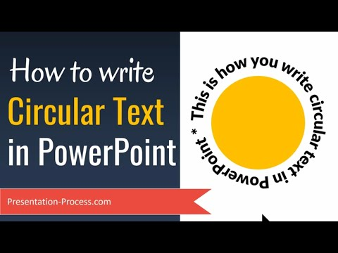How to Write Circular Text in PowerPoint (Curved Path)