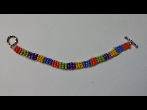 How to make  seed beads bracelet in less than 1 hour. Jewelry making for beginners