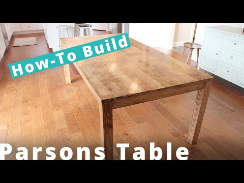 How To Build A Parsons Table DIY Project | Woodworking