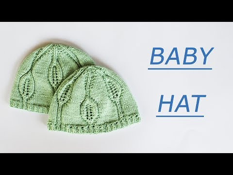 How to knitting baby hat Leafy Baby hat pattern WWWIKA Crochet