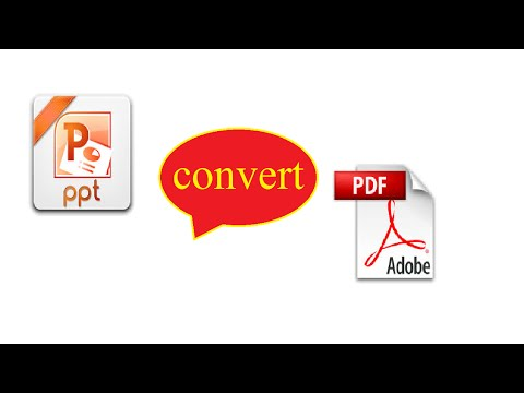 how to convert PPT to PDF without any software