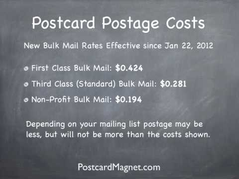 New Postcard Postage Rates for 2012