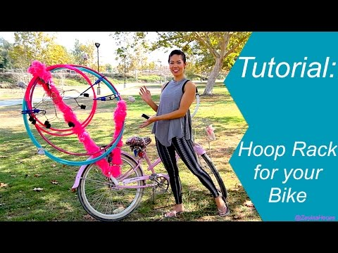 Tutorial:  How to make a DIY Hula Hoop Bike Rack
