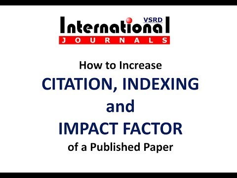 VSRD International Journals | Increase Citations, Indexing, Impact Factor of Published Paper