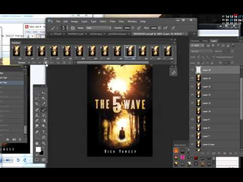 How to make an animated (gif) book cover in Photoshop