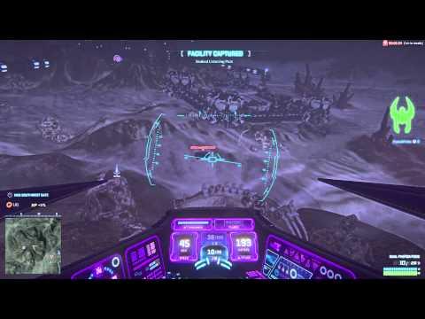 PlanetSide2 flying Vanu aircraft vehicle