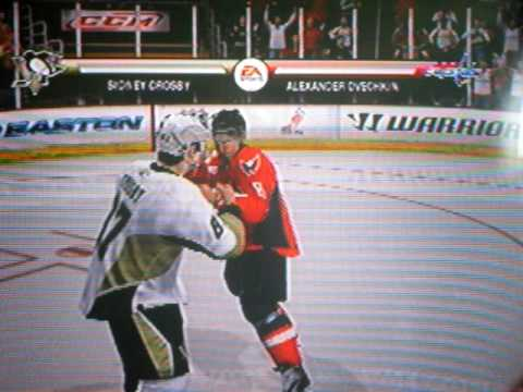 nhl 09- fight bewteen sid and ovec