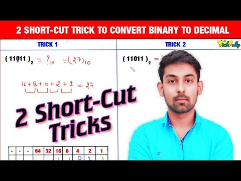 Two Easy Short-Cuts To Convert Binary To Decimal Number In Hindi | By Nirbhay Kaushik