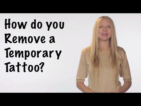 How do you remove a temporary tattoo