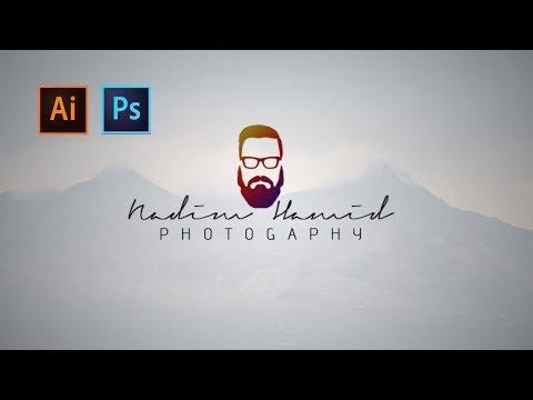 Photoshop cc Tutorial: Make your FACE logo | Photography LOGO | Hipster logo