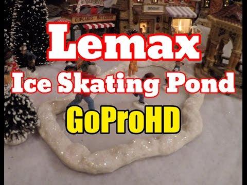 Lemax Village Ice Skating Pond New (GoPro HD) - Ice Skating Pond