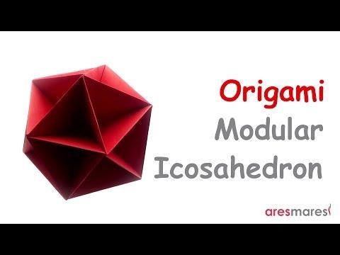 Origami Icosahedron (intermediate - modular)