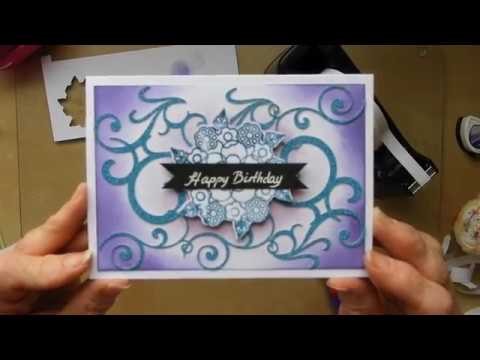 Swirly Card + how to make the stamp  (no23)