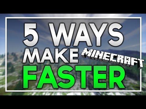 5 BEST WAYS TO INCREASE MINECRAFT SPEED!