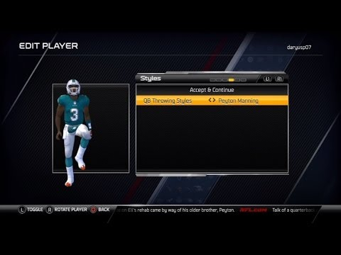 MADDEN 25 Connected Franchise QB Part 1 -The Creation of Daryus