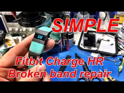 EASY Fitbit Charge HR broken band repair without glue