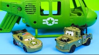 Disney Pixar Cars Army Lightning McQueen & Mater have their first mission save Gil Just4fun290