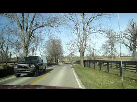 Horse Country, Black Fences and Rock Walls in Kentucky