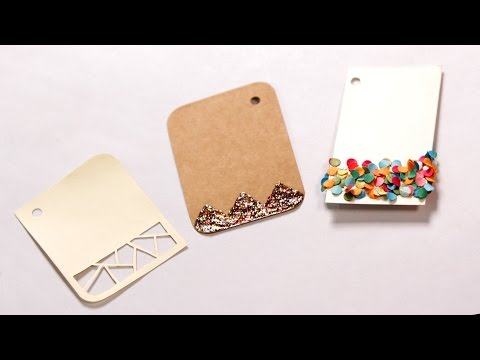 How To Make Simple Gift Tags | DIY Holiday Gift Tags