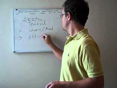 GMAT Sentence Correction Hierarchy of Errors